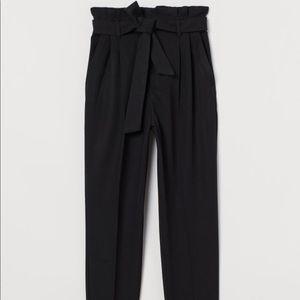 H&M High-waisted Black Paper-bag Pants